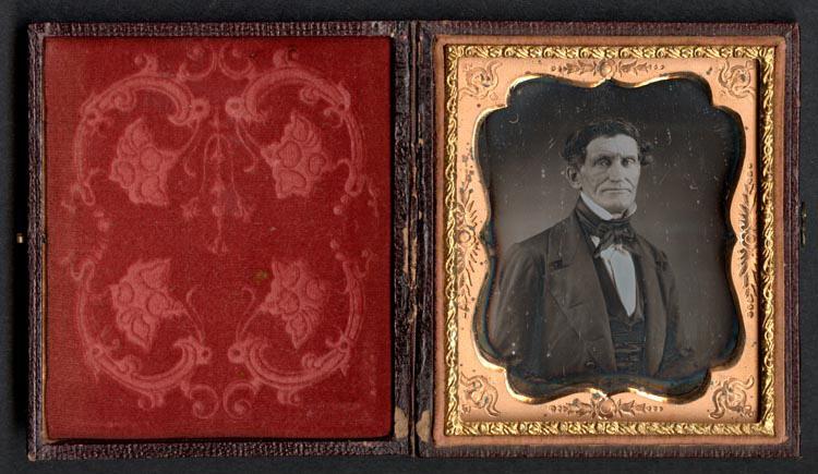 John Brown Daguerreotype in case